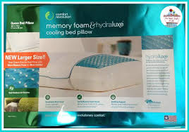 gel bed pillows comfort revolution hydraluxe cooling gel bed pillow review