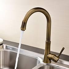 copper kitchen faucets antique brass finish single handle deck mounted kitchen faucet