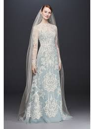 formal wedding dresses illusion lace sleeve sheath wedding dress david s bridal