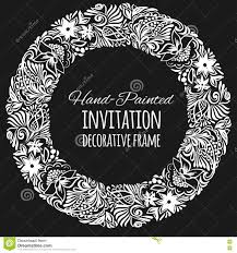 round wedding invitations round vintage decor vector template stock vector image 72014322