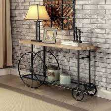 Industrial Console Table Gracie Oaks Springport Industrial Console Table Reviews Wayfair