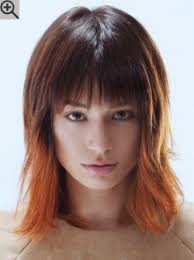 shoulder length hair feathered on the sides the sides shoulder length layered bob with feathered sides and a point cut