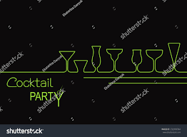 design cocktail party invitation bar menu stock vector 232990384