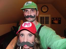 Mario Luigi Halloween Costume Couple Costume Halloween Mario Luigi Halloweenieeeee