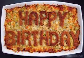 happy birthday entree chicken artichoke and three cheese bread