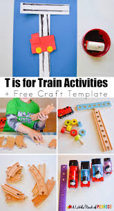 letter of the week a z series t is for train activities for kids