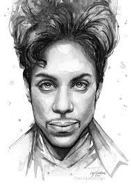 prince watercolor portrait olechka design