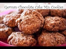 cooking with mai mai german chocolate cake mix cookies youtube
