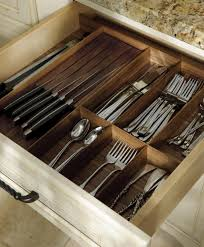 kitchen knife storage ideas walnut drawer inserts spoon and knife storage ideas 5305