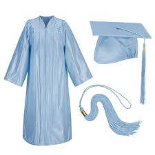 cap and gowns for graduation blue graduation cap and gown