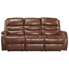 Signature By Ashley Sofa by Signature Design By Ashley Metcalf Leather Match Power Reclining