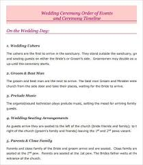 wedding ceremony timeline wedding day timeline 7 free pdf documents free