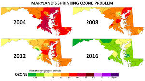 State Of Maryland Map by Historical Air Quality Data