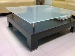 frosted glass coffee table 5 modern glass furniture pieces with simplistic designs glass