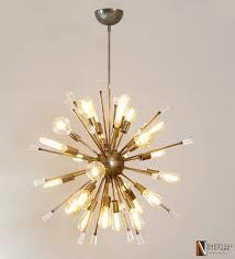 18 Light Starburst Chandelier Decor 24 Lights Acrylic Crystals Ball Starburst Chandelier