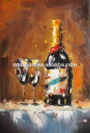 Dining Room Paintings by Decorative Home Decor Wine Bottle Still Life Dining Room Paintings