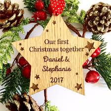 personalised first christmas together decoration first christmas