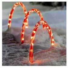 Outdoor Candy Cane Lights by Set Of 3 Candy Cane Arch Pathway Driveway Markers Lights Outdoor