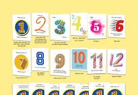 age 12 set of twelve unique birthday cards that u0027count up u0027 to a