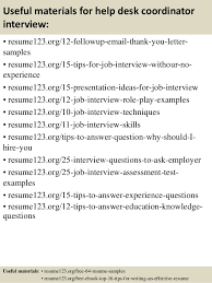 Help Desk Resume Examples by Resume Format Help Desk Coordinator Contegri Com
