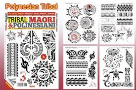 amazon com polynesian tribal tattoo flash book 66 pages pacific
