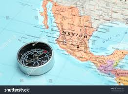 Teotihuacan Map Compass On Map Pointing Mexico Planning Stock Photo 207995755