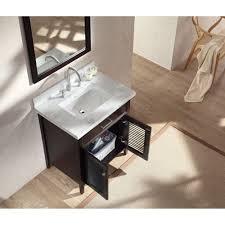ace 31 inch cottage single sink bathroom vanity set in espresso finish