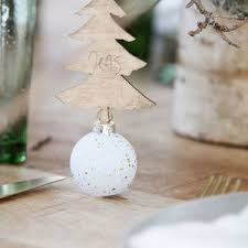 bauble place card holders
