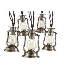 led lantern string lights gemmy 12 4 ft brown led lantern string lights vintage antique
