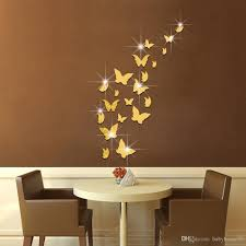 3d acrylic butterfly wall sticker mirror paster mural painting 3d acrylic butterfly wall sticker mirror paster mural painting creative wallpaper stickers for bedroom home decorative arts 10 5fu ar wall sticker art wall