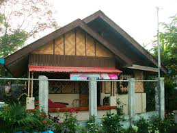 modern version bahay kubo half concrete native materials home