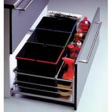 panier coulissant pour cuisine collecteur sous évier tri sélectif 3 bacs accessoires de cuisines