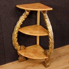 etagere legno angoliera laccata credenza mobile 礬tag礙re legno dorato scaffale