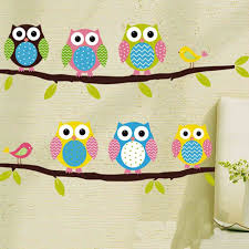 Nursery Owl Decor Baby Room Owl Wall Decal Zooyoo1020 Original Wall