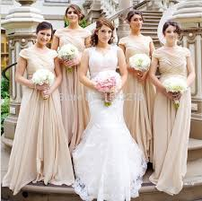affordable bridesmaids dresses affordable chagne sleeve bridesmaid dress floor