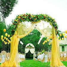arch decoration decorative metal arch white 55 wx90 h efavormart