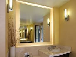 Lighted Mirrors For Bathroom Wall Lights Design Lighted Wall Mirror For Vanity Lighted