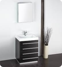 Modern Bathroom Vanities And Cabinets 23 5 U201d Fresca Livello Fvn8024bw Black Modern Bathroom Vanity W