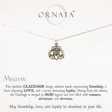 sterling silver personalized jewelry claddagh sterling silver friendship necklace w personalized name
