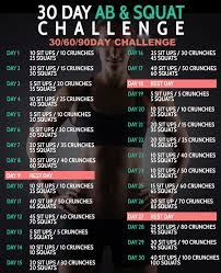 How To Do Challenge 30 Day Ab Squat Challenge 306090 D
