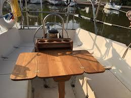 boat tables for cockpit cockpit table blue nun re done