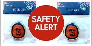 target recalls halloween window clings due to choking hazard