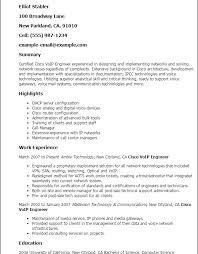 download cisco voip engineer sample resume haadyaooverbayresort com