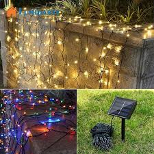 aliexpress buy lumiparty 50 100 led solar power string light