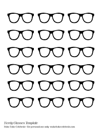 nerd glasses template even made a nerdy glasses template to