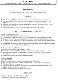 resume objective secretary secretary resume sample secretary