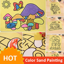 10pcs lot colored sand painting drawing toys sand art kids
