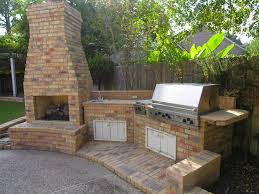 outdoor kitchen with fireplace crafts home
