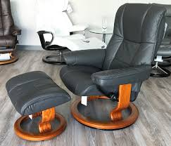 Brown Leather Recliner Chair Sale Mayfair Paloma Rock Leather Recliner Chair And Ottoman By Ekornes