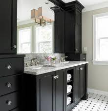Bathroom Vanity With Linen Tower 11 Best Black U0026 White Bathroom Images On Pinterest Bathroom